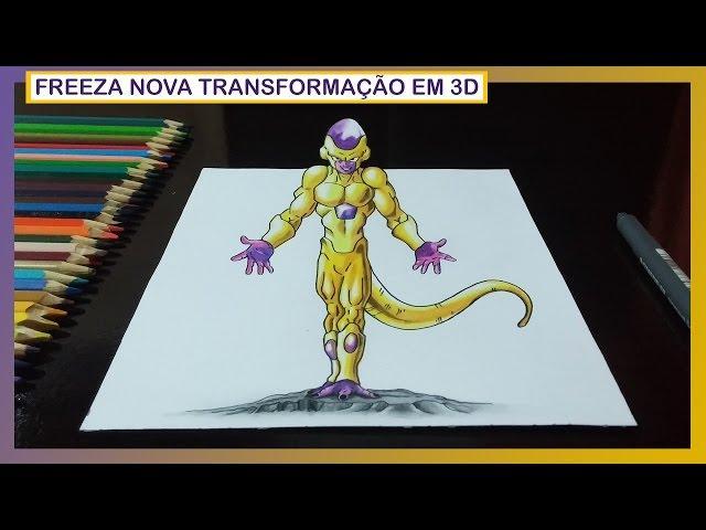 Desenhando Freeza com Nova Transformação - Dragon Ball Z – O Renascimento de Freeza