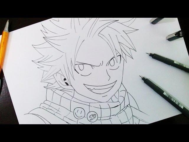 Como desenhar Natsu de Fairy Tail - Fast Tutorial Parte 1