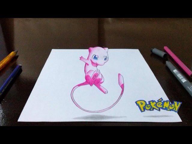 Desenhando Pokémon Mew em 3D - Top Rabiscos #1