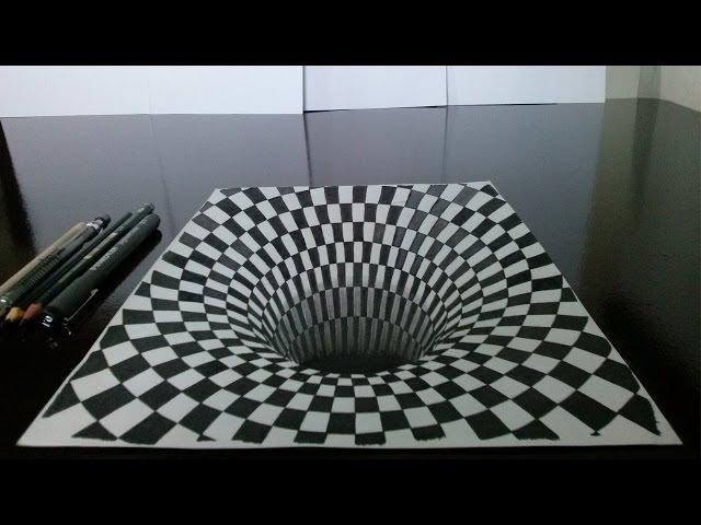 Como desenhar um Buraco em 3D (Drawing 3D Hole)