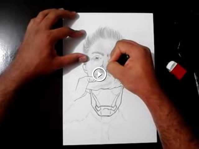 Desenhando O Homem De Ferro Tony Stark