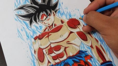 Drawing Goku Limit Breaker - DESENHANDO Goku NOVA transformação