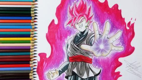 Desenhando Goku Black Super Saiyajin Rosé (Drawing Black Goku SSJ Rosé)