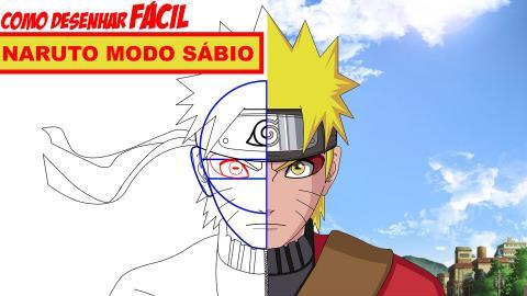 Como desenhar FÁCIL - Naruto Modo Sábio (Sennin)